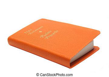 Prayer Book - An orange prayer book on white background