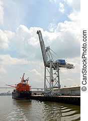 Shipyard crane - Photographed shipyard crane at local dock...