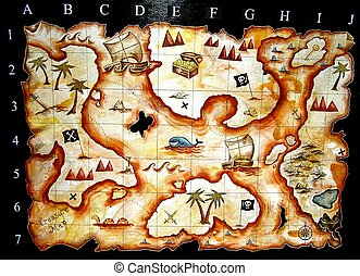 treasure map - hand painted treasure map i designed for kids...