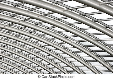 Roof Span - Section of the curved reinforced steel roof...