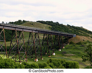 Uno Train bridge - The train bridge just south of the siding...