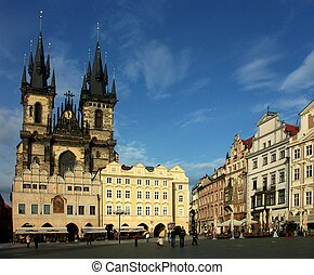 Prague - Old Town Square - Prague - Tyn Church