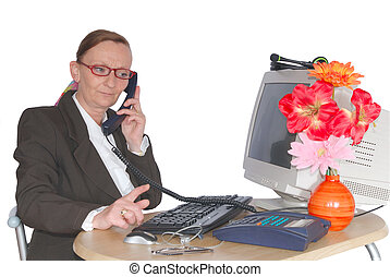 Businesswoman, call center