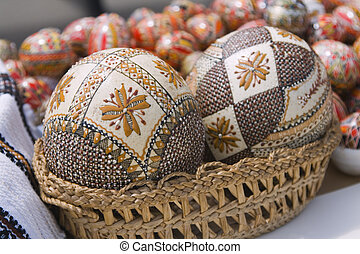 Romanina Easter eggs - Traditional Romanian Easter painted...