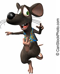 Toon Mouse - 3D Render