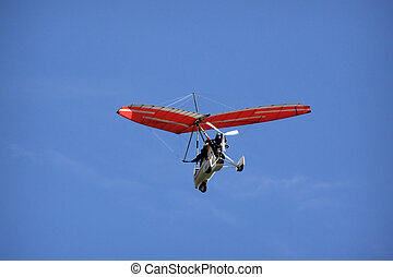 hang-glider - foot launched aeroplane on the sky