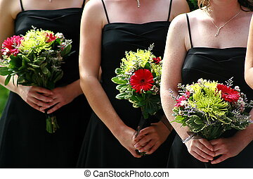 bridesmaid - Bridesmaids standing during ther wedding...