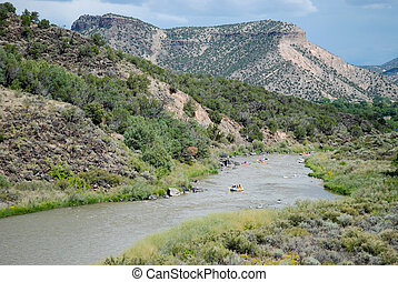 Rio Grande - Rafting on the Rio Grande near Pilar, New...