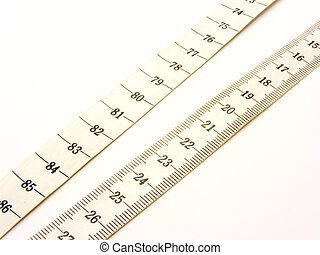 plastic measuring ribbon for tailors with inflicted in...