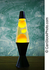 Lava Lamp - Lava lamp with yellow contents