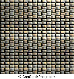 woven metal - large background image of a woven metal...