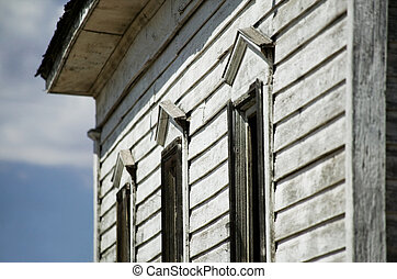 Side Detail of Abandoned Rural Church