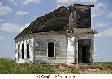 Abandoned Church - Neglected and abandoned rural church shot...