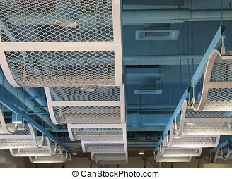 Modern Ceiling Design - -- with long metal structures...
