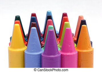 Wax Crayons - A selection of colourful childrens wax crayons...