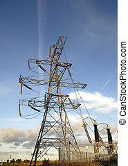 Electricity Supply Pylon - Electricity supply ceramic...