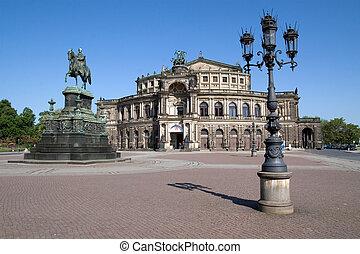 Semper Opera House in Dresden (Germany)