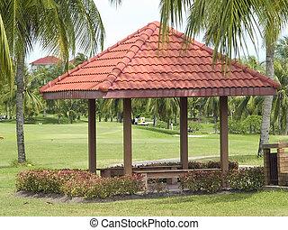 Pavilion at golf course