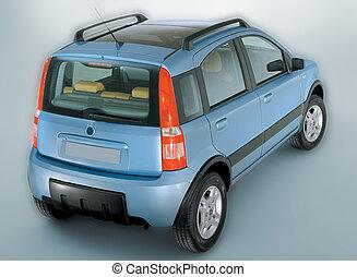 car panda blue