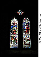 stained glass windows - a set of stained glass windows