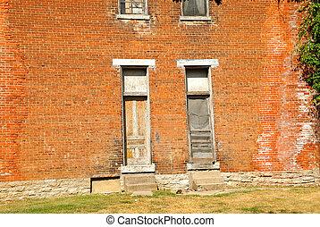 Old Brick Building Facade