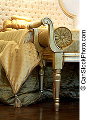 beautiful couch - Ancient and beautiful couch in a rich...