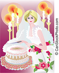 wedding poster - celebration card