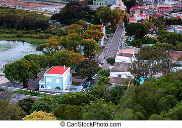 View of Taipa village, Macau - The perspective view of Taipa...