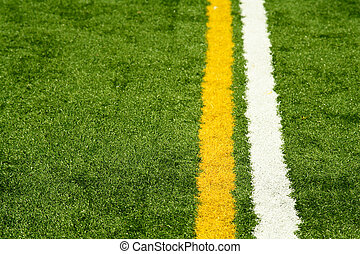 Artificial turf - A shot of an artificial turf background