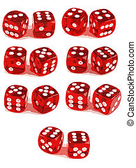 2 Dice Showing All Numbers 3 of 3 - 2 Dice close up -...