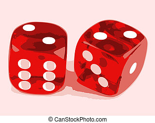 2 dice showing 2 and 2