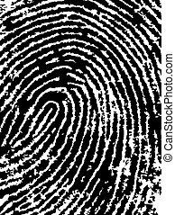 FingerPrint Crop 4 - Low Poly count