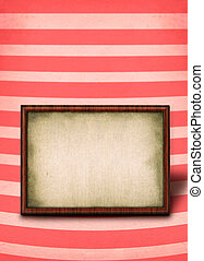 frame against striped background