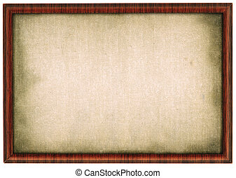 XL size wooden frame isolated on white