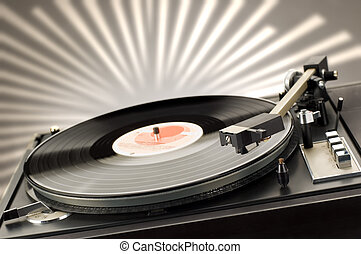 gramophone - close up shot of gramophone player with...