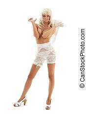 branca, anjo, alto, calcanhares, #3