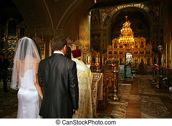 Wedding ceremony - Before the wedding ceremony - inside...