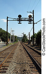 Railroad  - Railroad, tracks, signs and poles