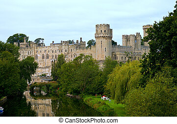 Warwick Castle - Warwick castle from the river side of the...