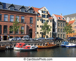 Copenhagen water front canals - Copenhagen - houses and...