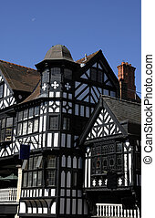 Tudor Black and White Building - Old black and white tudor...