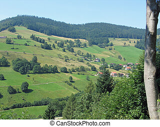 Blackforest Germany - View of mountains and villages in the...
