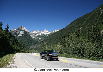 Trans-Canada Highway - Glacier National Park of Canada. Area...