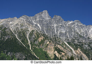 Rocky Mountains - Mountains surrounding Rogers Pass in...