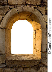 Wall frame - Ancient city wall of historical Greek colony...