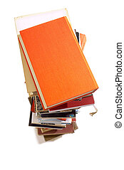 Books - Group of books for school on white backgrounds