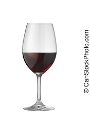 cabernet wine glass - glass of cabernet wine on white with...