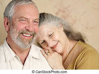 Sweet Affection - A beautifull middle aged couple being...