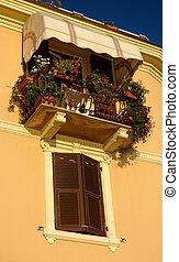 Italian Balcony - Balcony On An Italian Apartment Building,