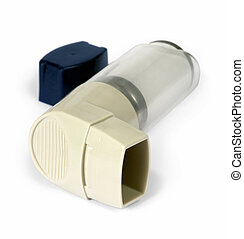Asthma inhaler - Isolated image of an asthma inhaler puffer...